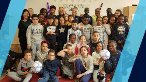 Des Parisiennes en visite à Joliot Curie