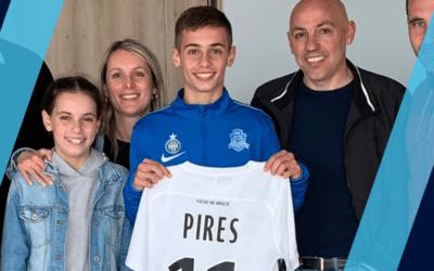 Hugo Pires signe un contrat aspirant
