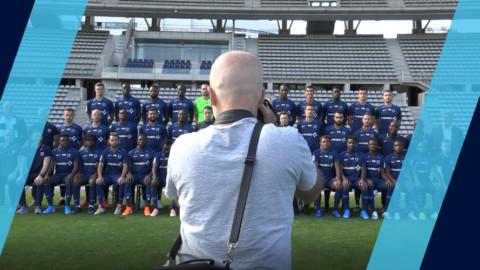 La photo officielle 2019-2020 s'est déroulée à Charléty